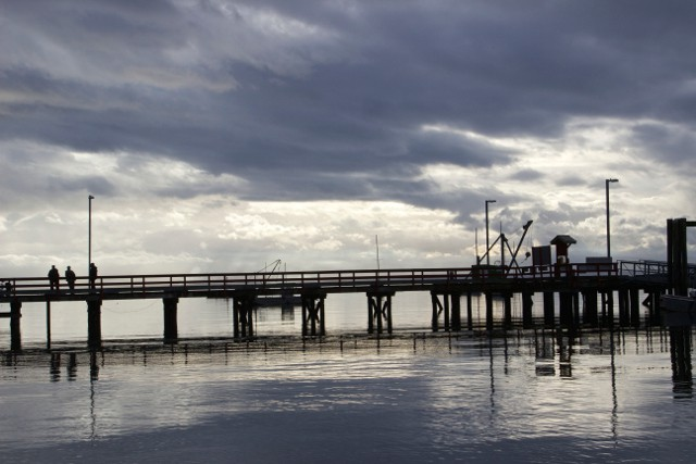 Grey blue Dusk at Mansons Dock