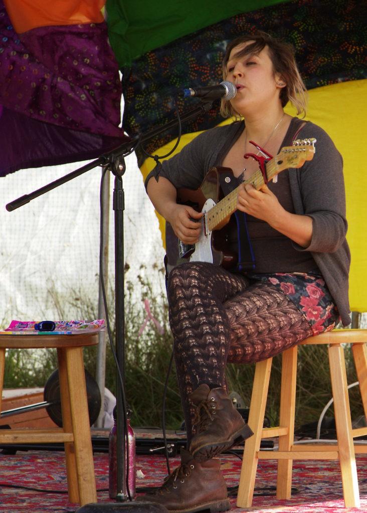 Jessi Singing at the Harvest Fair