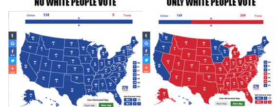 US Voting Map Race Breakdown