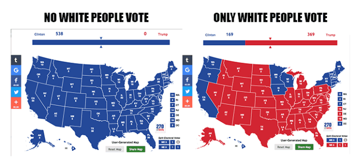 US Voting Map Race Breakdown