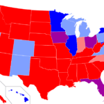 Red and Blue States Map
